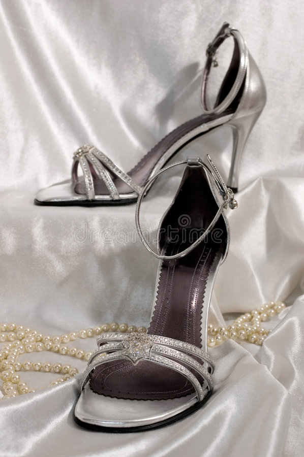 Sandali nuziali immagine stock