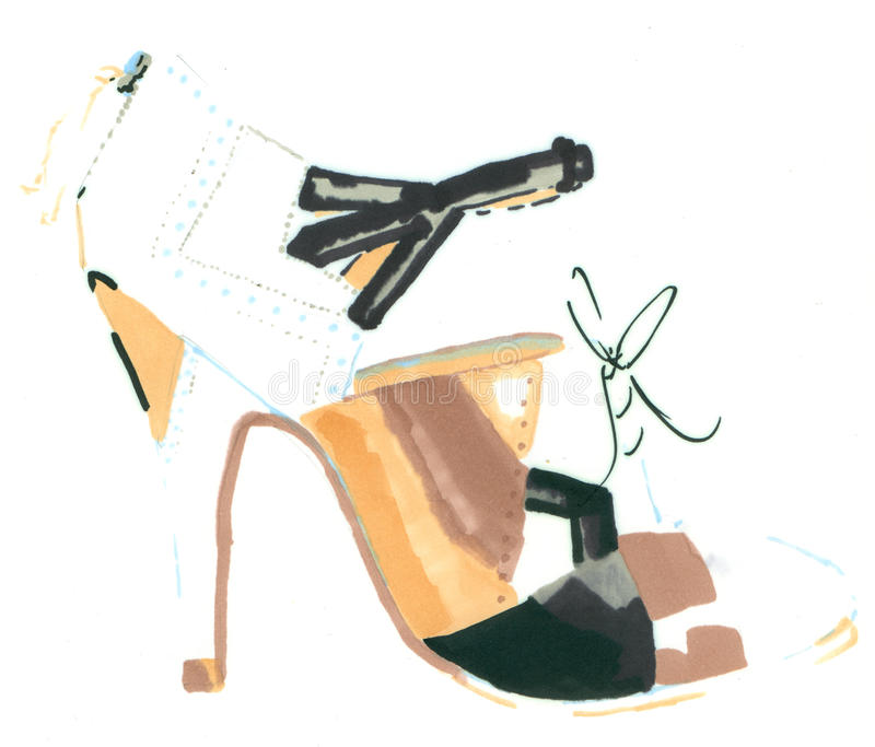 Sandalia stock de ilustración