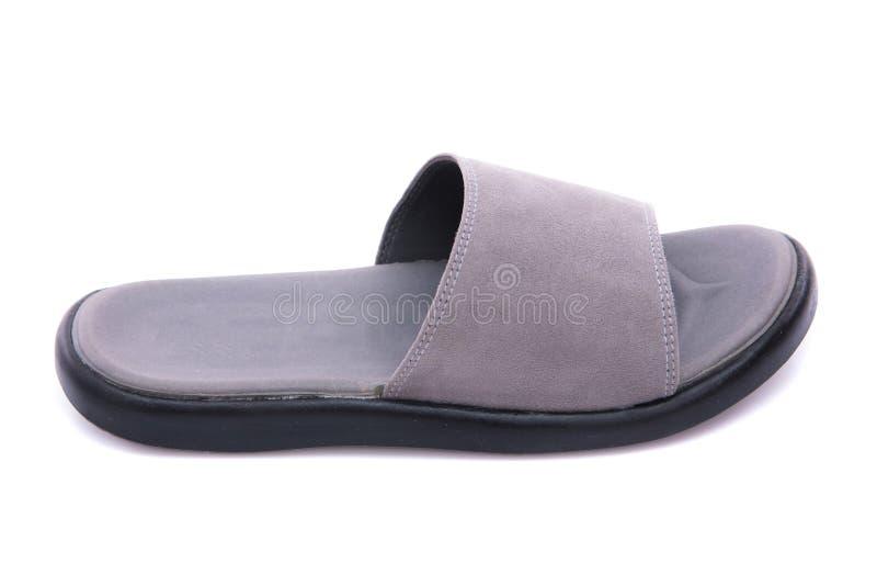 Sandalia de cuero gris imagen de archivo libre de regalías