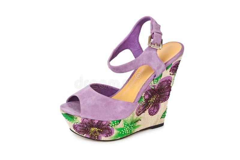 Sandalia del zapato de la mujer fotografía de archivo libre de regalías