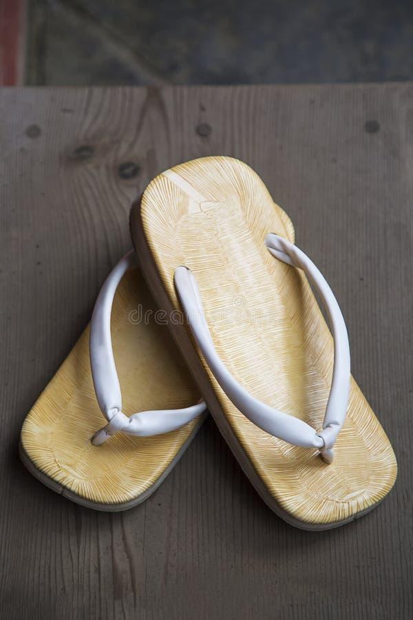 Sandalia japonesa fotografía de archivo