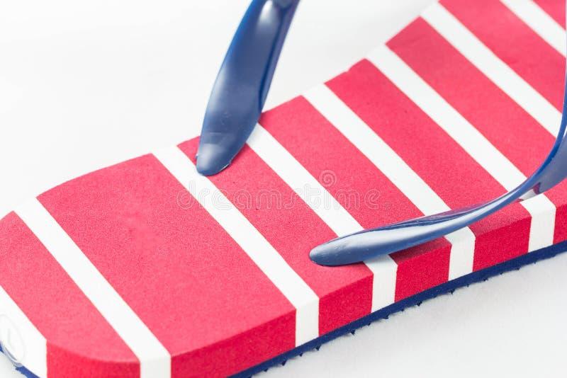 Sandalia roja foto de archivo libre de regalías