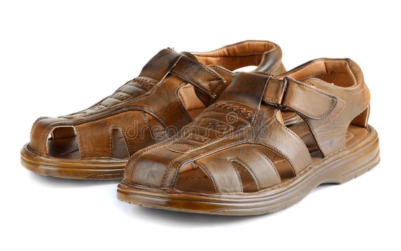 Sandalias de cuero imagen de archivo libre de regalías