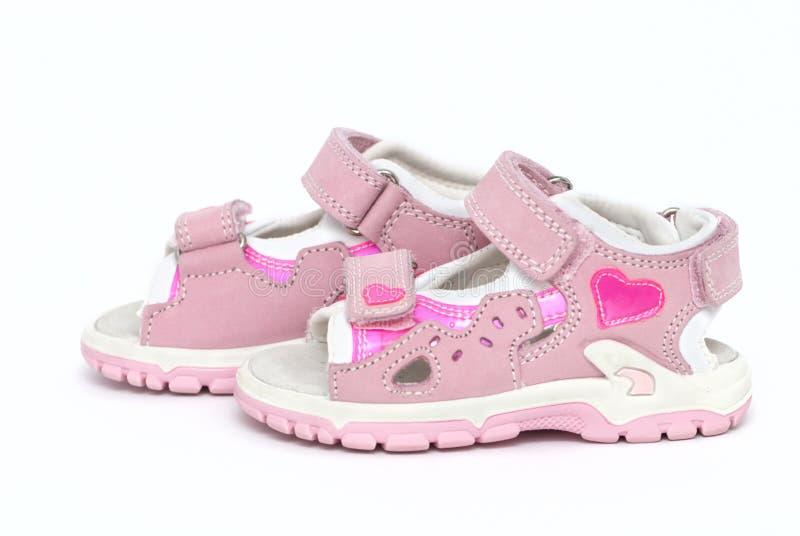 Sandalias de la niña fotografía de archivo libre de regalías