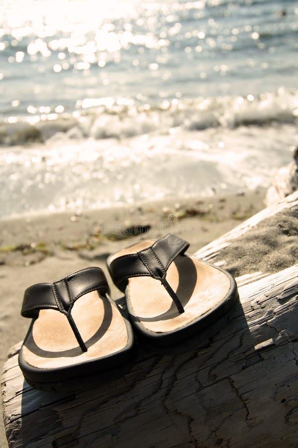 Sandalias de la playa imagenes de archivo