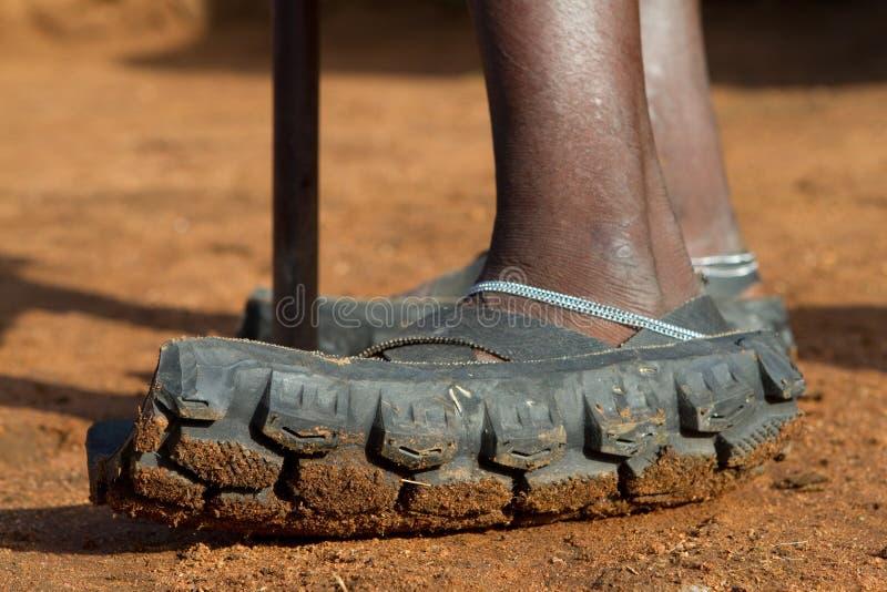 Sandalias de Maasai foto de archivo