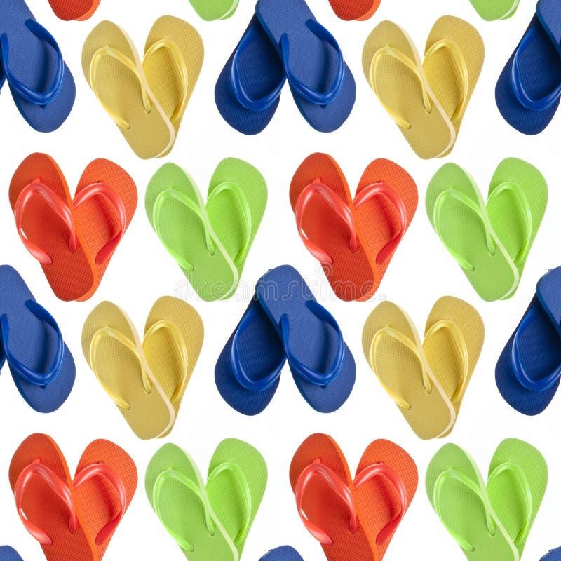 Sandalias del fracaso de tirón en dimensiones de una variable del corazón fotos de archivo libres de regalías