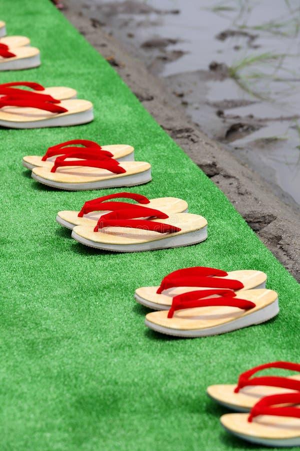 Sandalias japonesas tradicionales foto de archivo libre de regalías