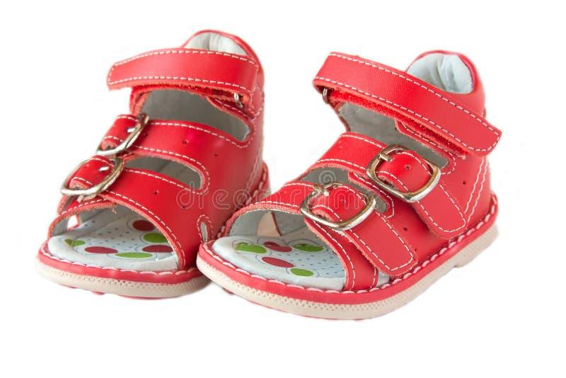 Sandalias rojas imagen de archivo libre de regalías