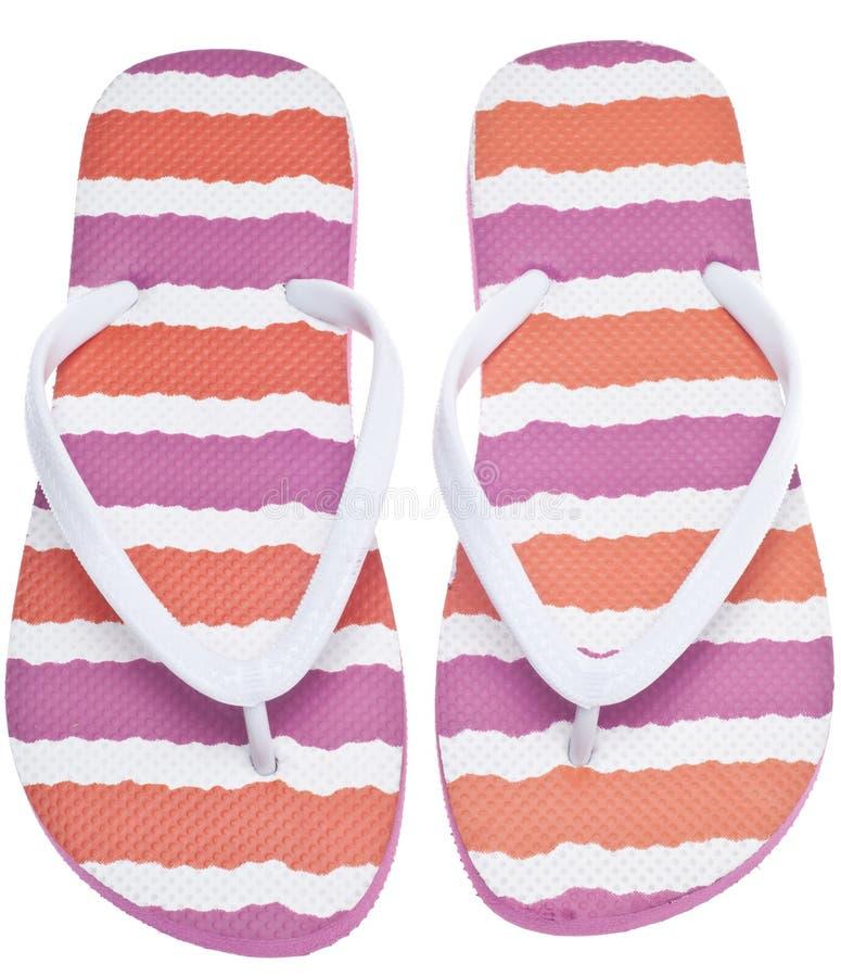 Sandalias rosadas y anaranjadas del fracaso de tirón imagen de archivo libre de regalías