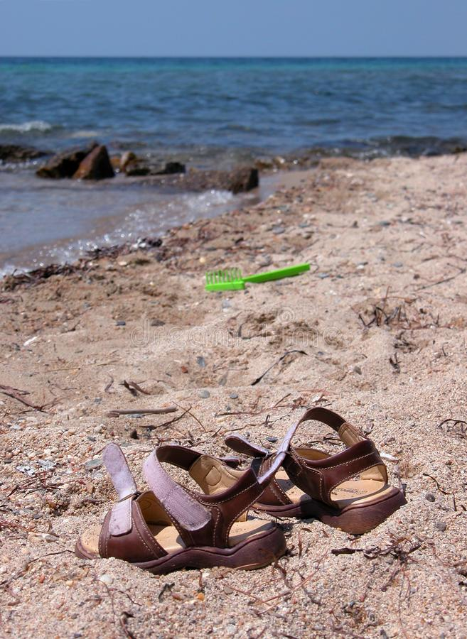 Sandals On The Beach Free Stock Images