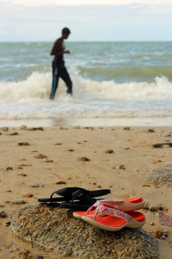 Download Sandals At The Beach Royalty Free Stock Photos - Image: 8732678