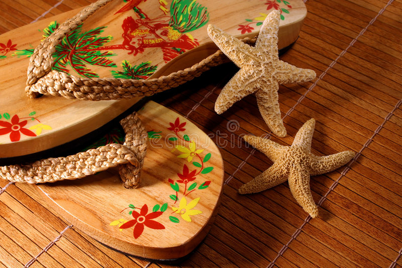 Sandals/ closeup stock image