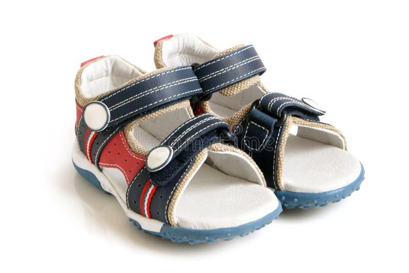 sandals för barn s royaltyfria bilder