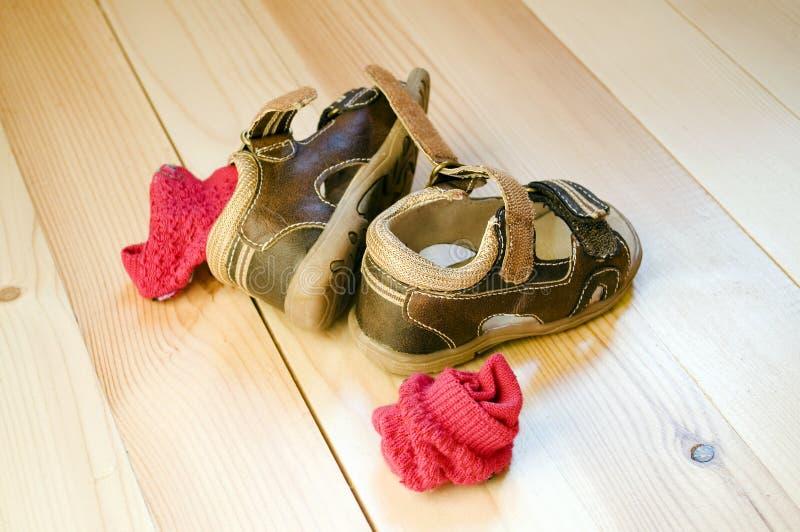 sandals för barn s arkivbilder