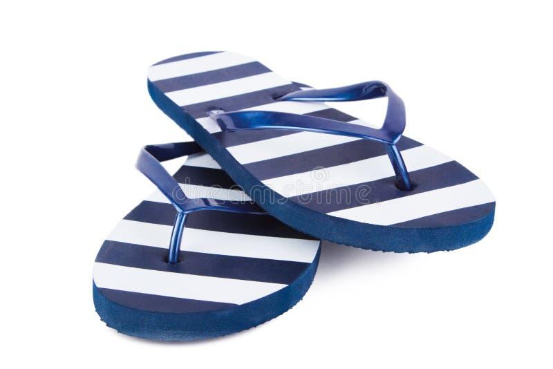 sandals in för misslyckandear för bakgrundsstrandflip isolerade ställde illustrationen vektorn vit royaltyfria foton