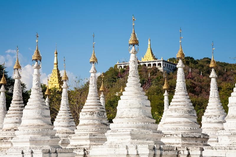 Sandamuni-Pagode, Mandalay, Myanmar lizenzfreie stockbilder