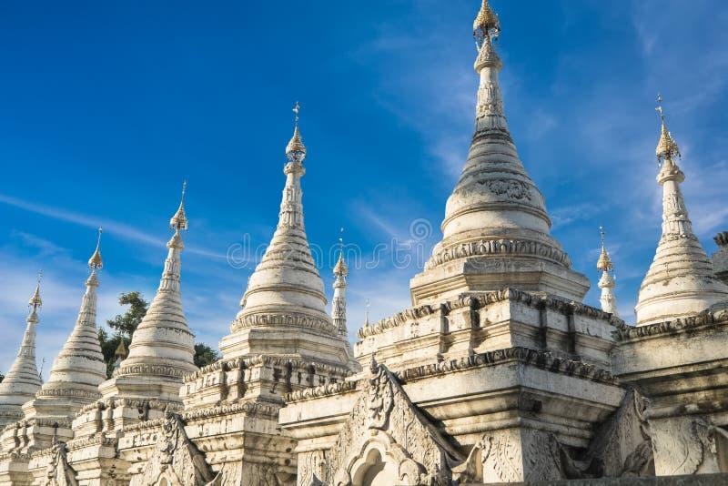 Sandamunipagode Van Mandalay, Myanmar (Birma) de reis stock foto