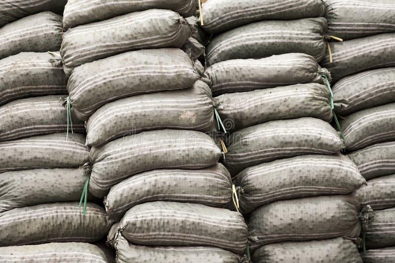sandbags royaltyfria foton