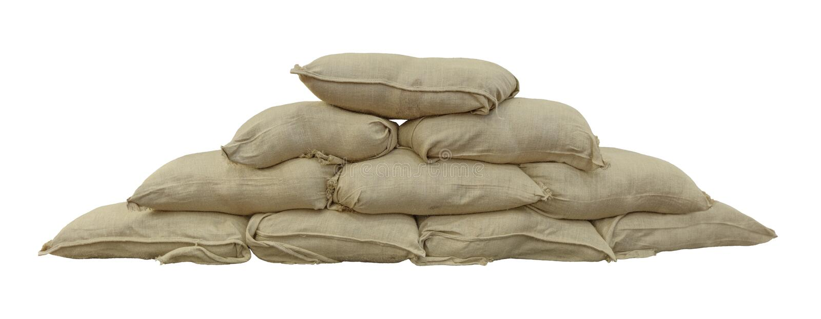 sandbags obraz royalty free