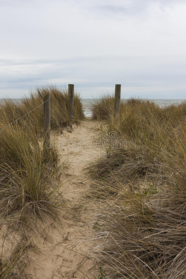 Sandbanks beach stock image