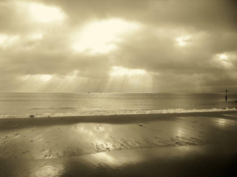 Sandbanks Dorset im Sepia lizenzfreies stockfoto