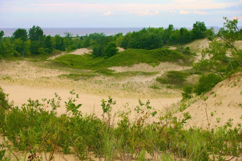 Sandbanks-Panorama lizenzfreie stockfotografie