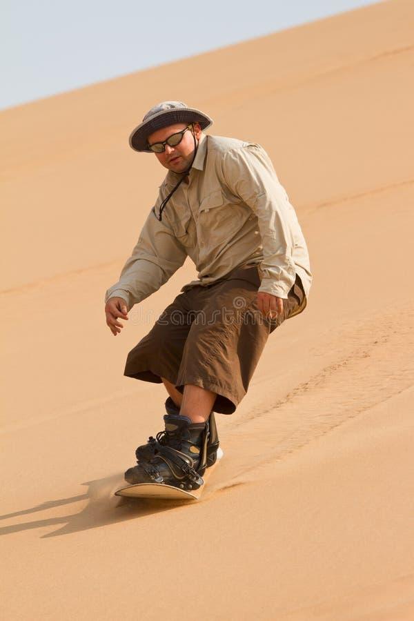 Sandboarder photo libre de droits
