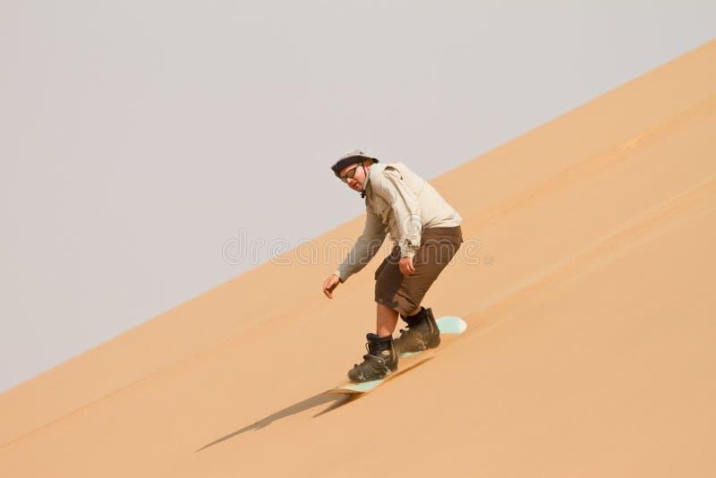 sandboarding royaltyfri bild
