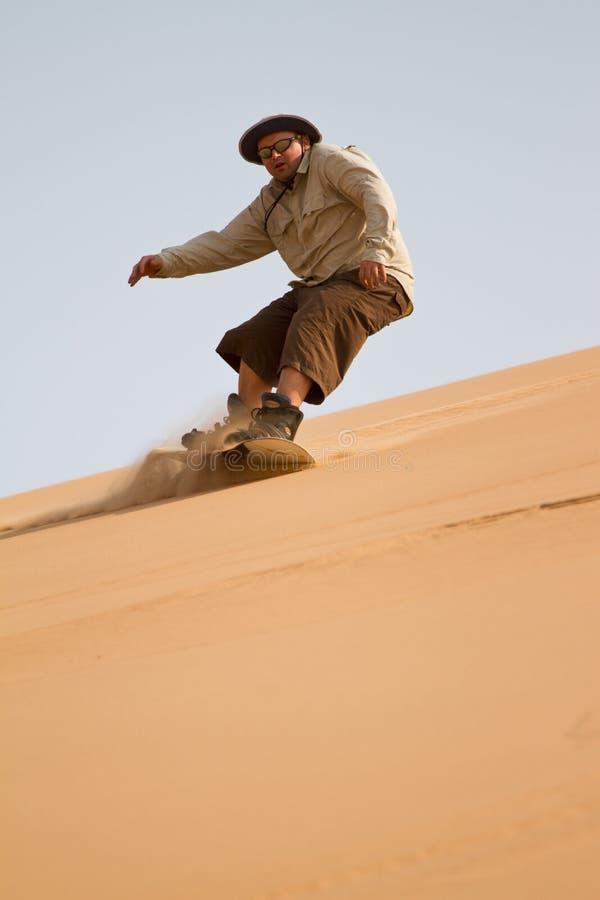 Sandboarding στοκ φωτογραφία με δικαίωμα ελεύθερης χρήσης