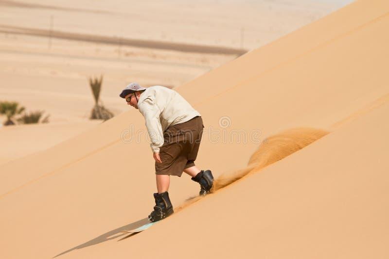 sandboarding zdjęcie stock