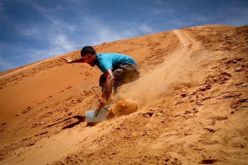Sandboarding zdjęcie royalty free