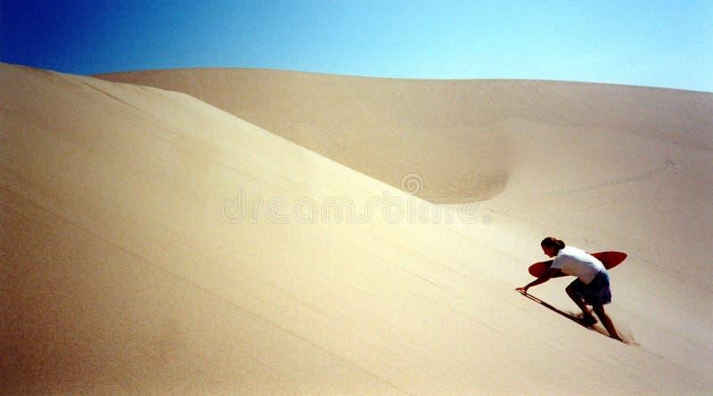 Sandboarding Fotografia de Stock