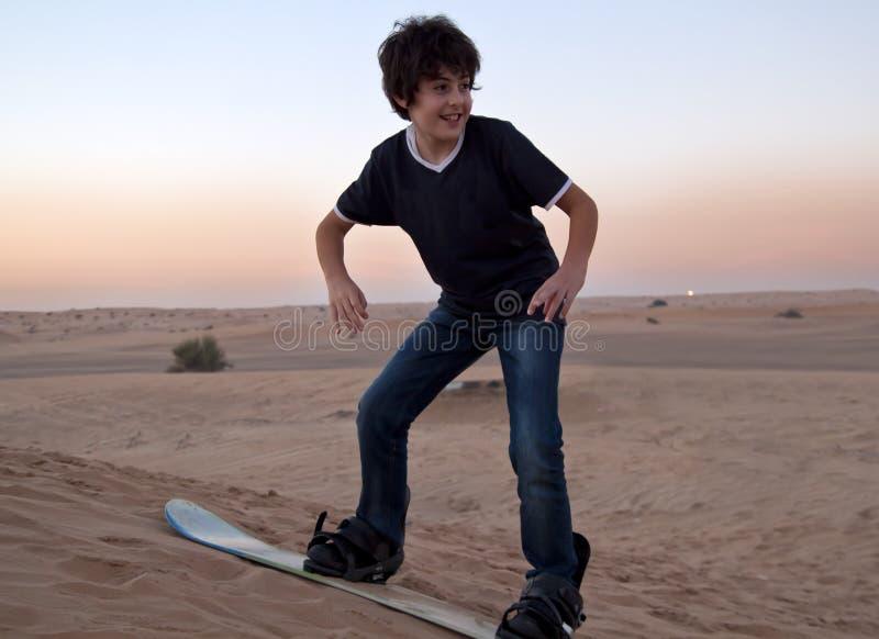Sandboarding fotografia stock