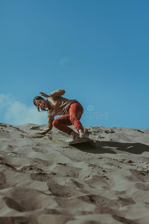 Sandboarding photos stock