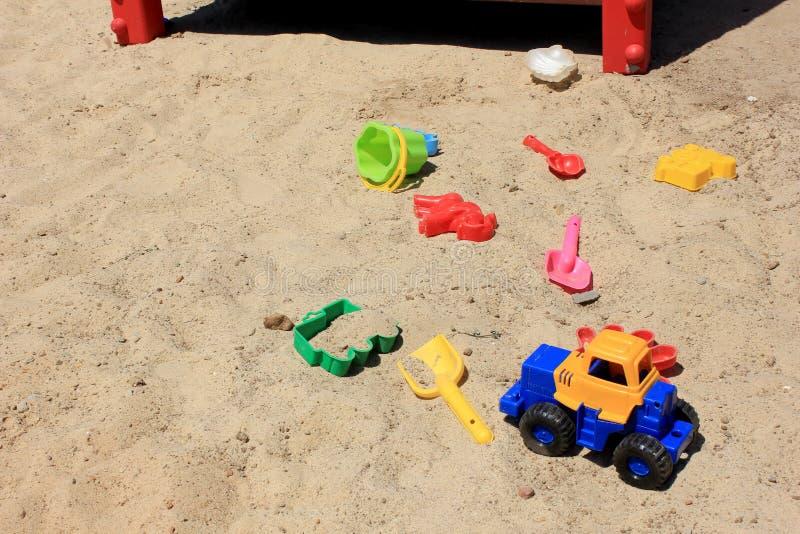 Sandbox παιδιών στοκ φωτογραφία με δικαίωμα ελεύθερης χρήσης