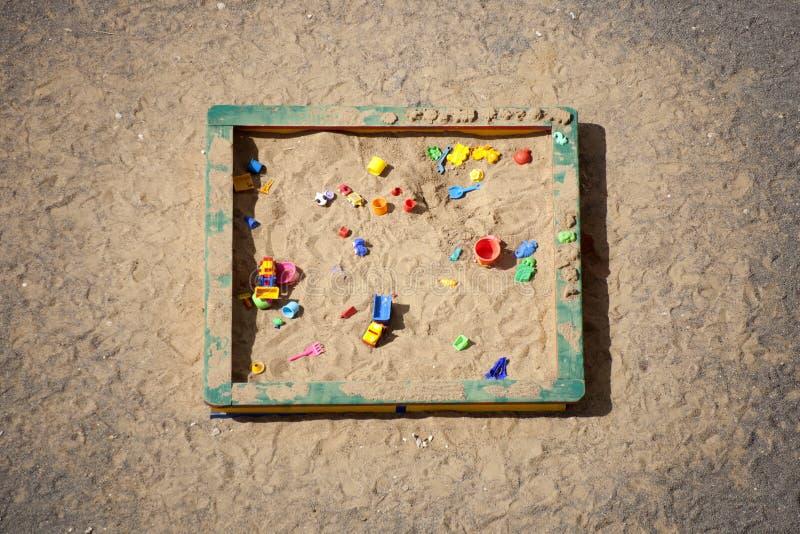 sandbox Hoogste mening stock foto