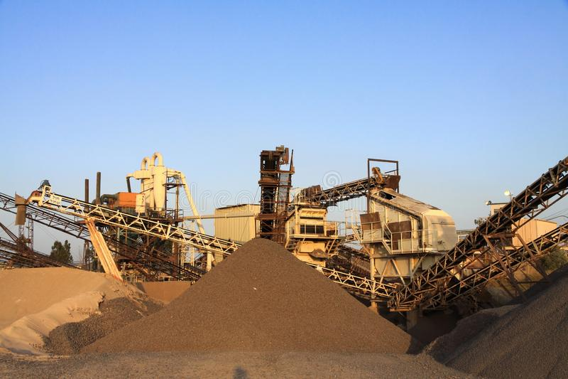 Sandbranschmaskineri arkivbild