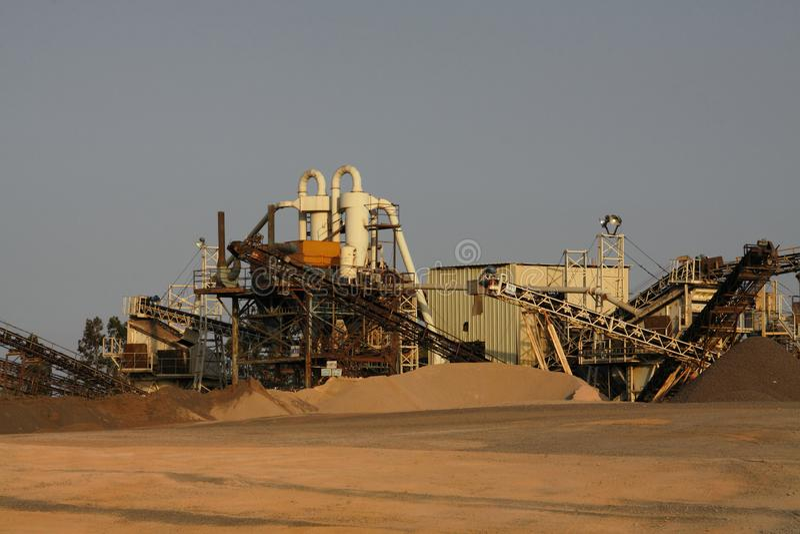 Sandbranschmaskineri arkivfoto