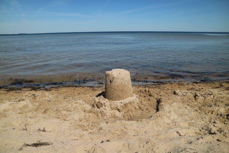 Sandcastle stock image