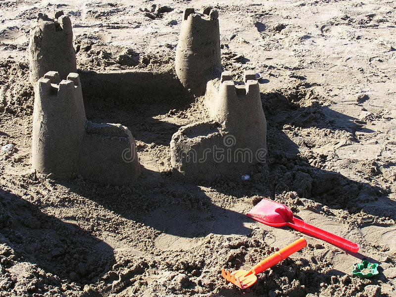 Download Sandcastle stock image. Image of build, nature, structure - 104853