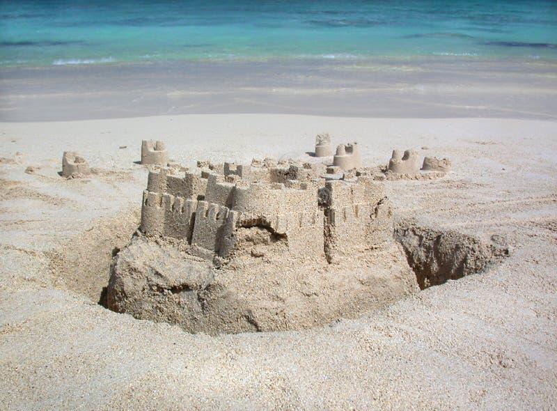 Sandcastle lizenzfreie stockfotos