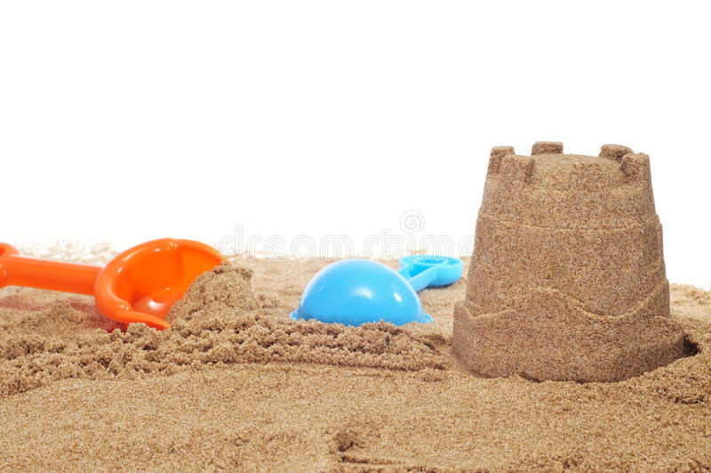 Sandcastle imagem de stock royalty free