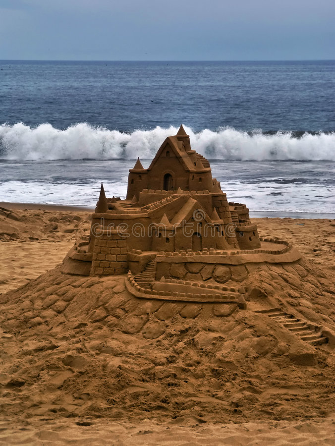 Sandcastle lizenzfreies stockfoto