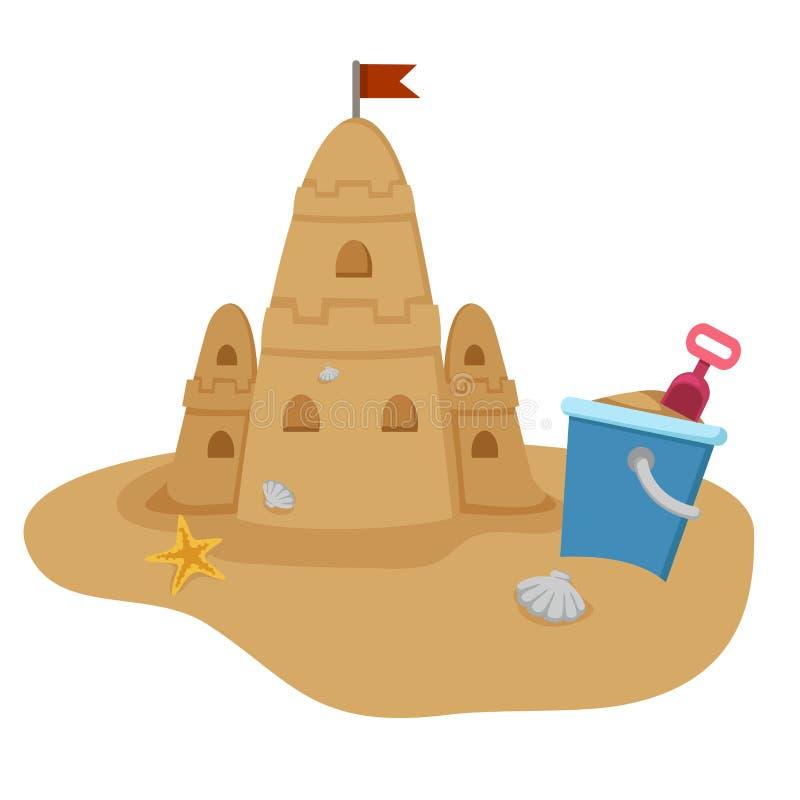 sandcastle иллюстрация штока