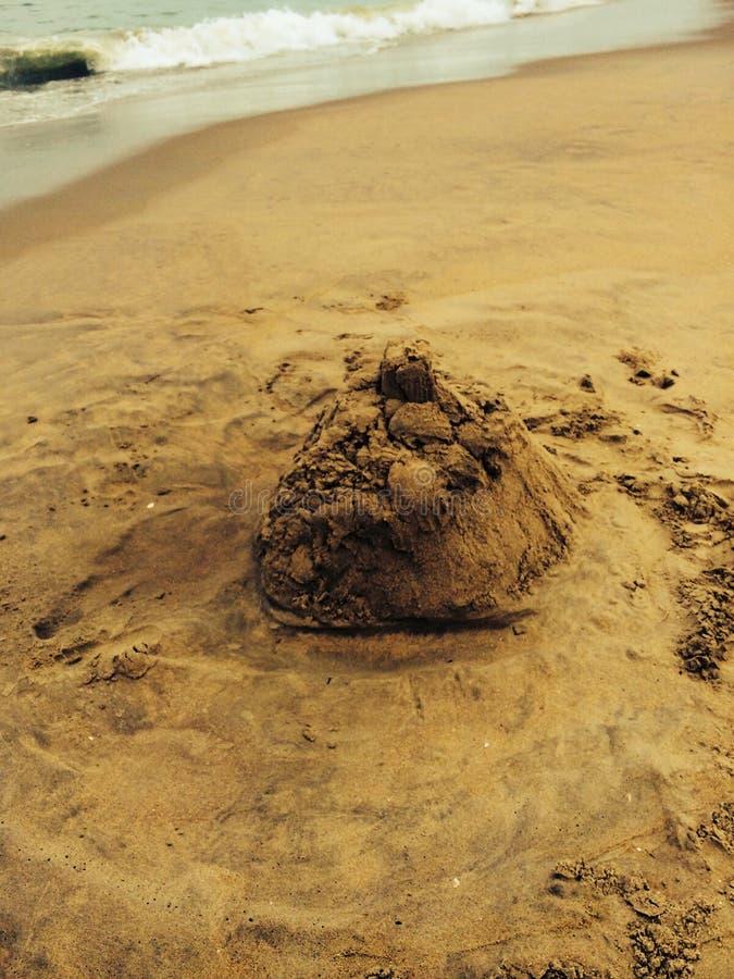 sandcastle image stock