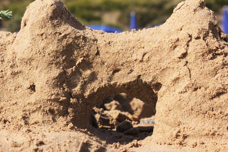 sandcastle photographie stock libre de droits