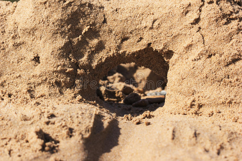 sandcastle imagen de archivo libre de regalías