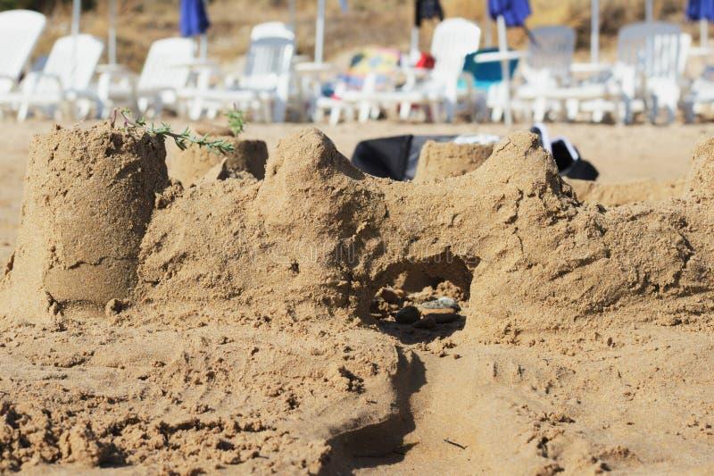 sandcastle fotos de archivo