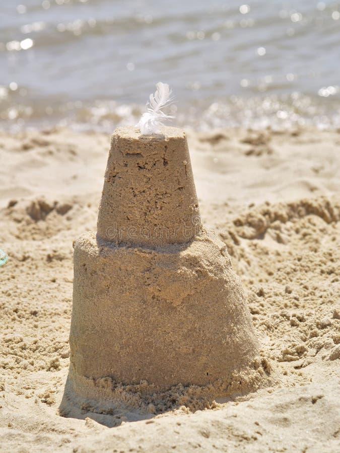Sandcastle On Beach Royalty Free Stock Image